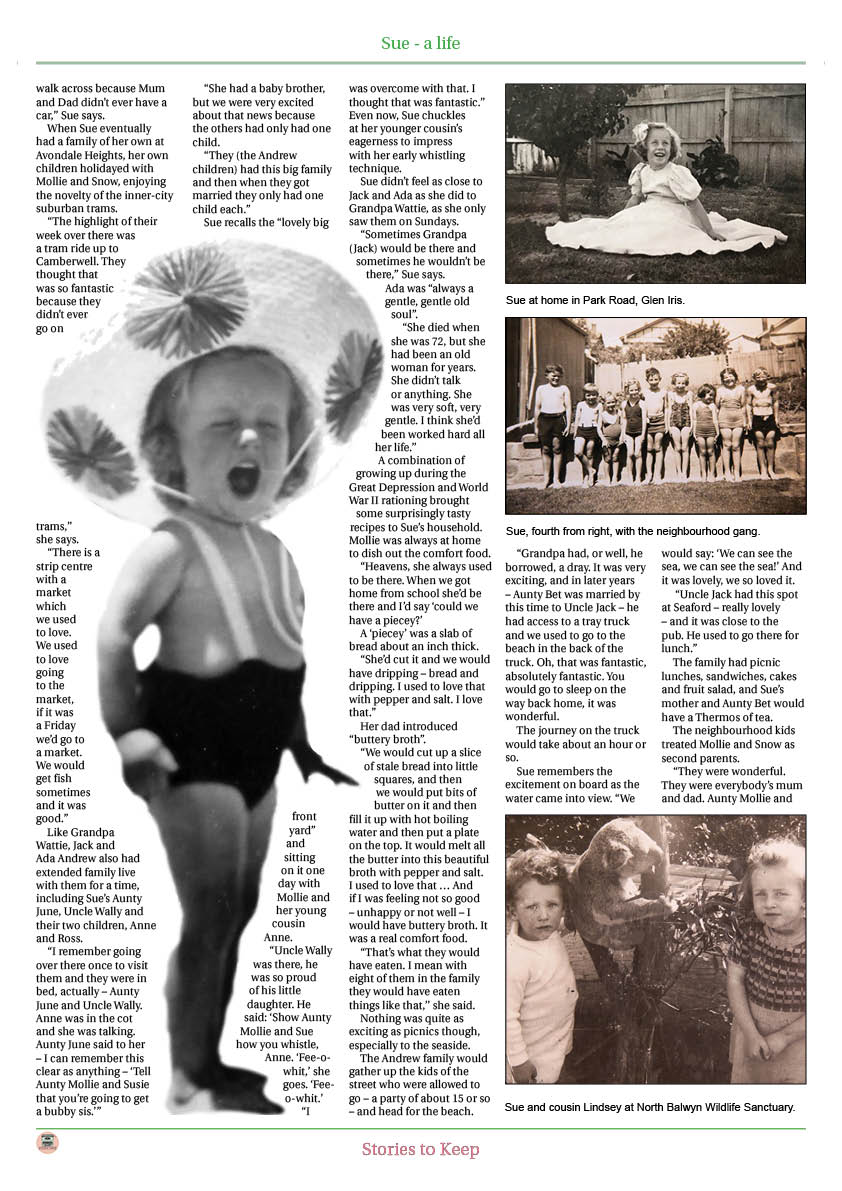 Family history book in a newspaper style